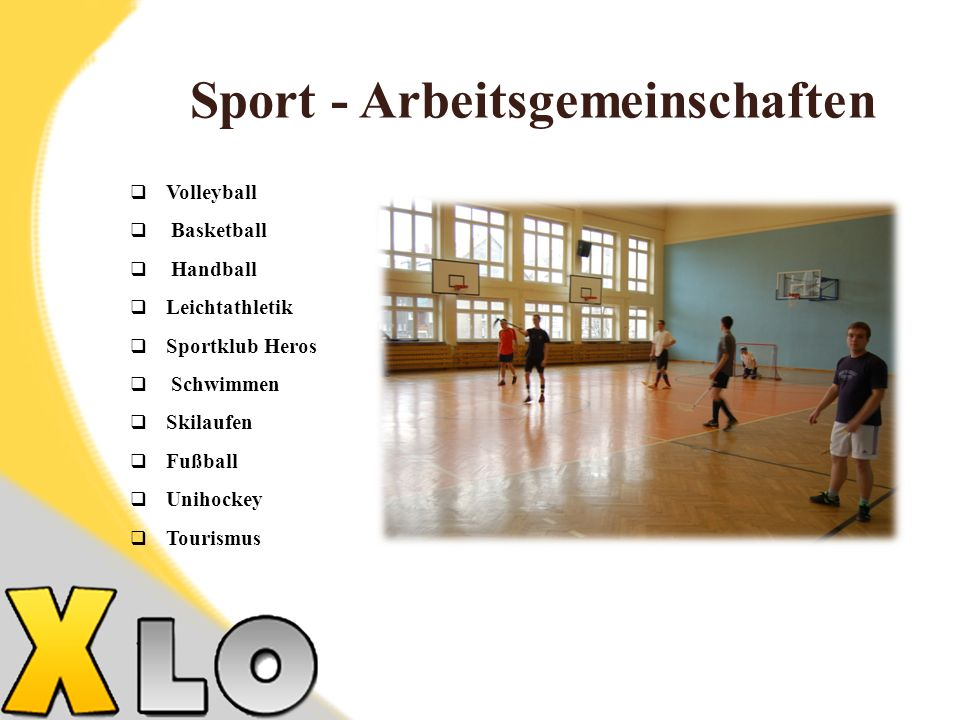 Sport - Arbeitsgemeinschaften