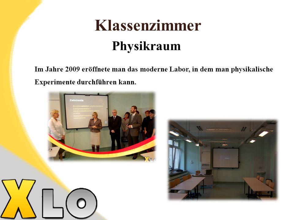 Klassenzimmer Physikraum