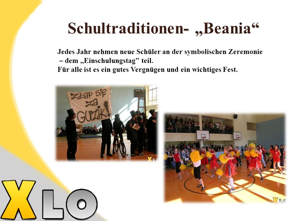 "Schultraditionen- ""Beania"