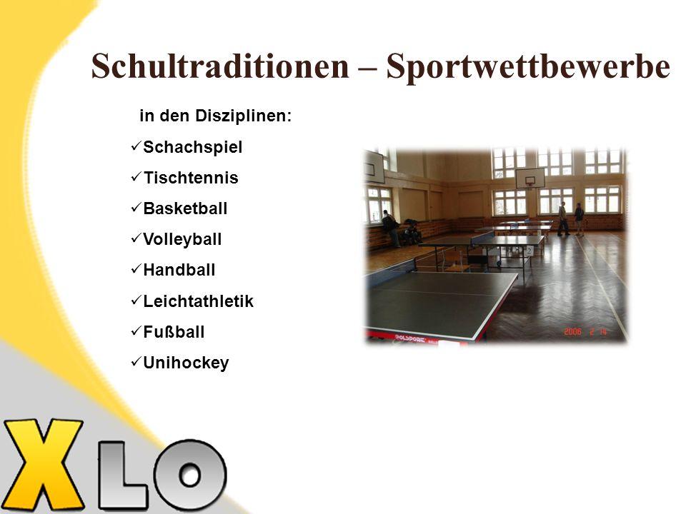 Schultraditionen – Sportwettbewerbe