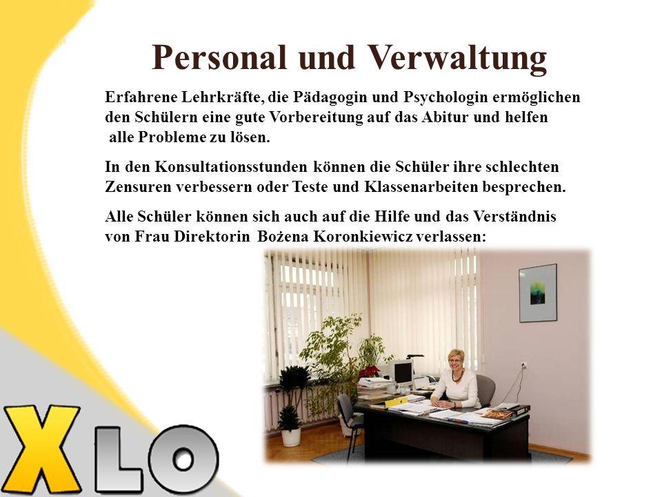 Personal und Verwaltung