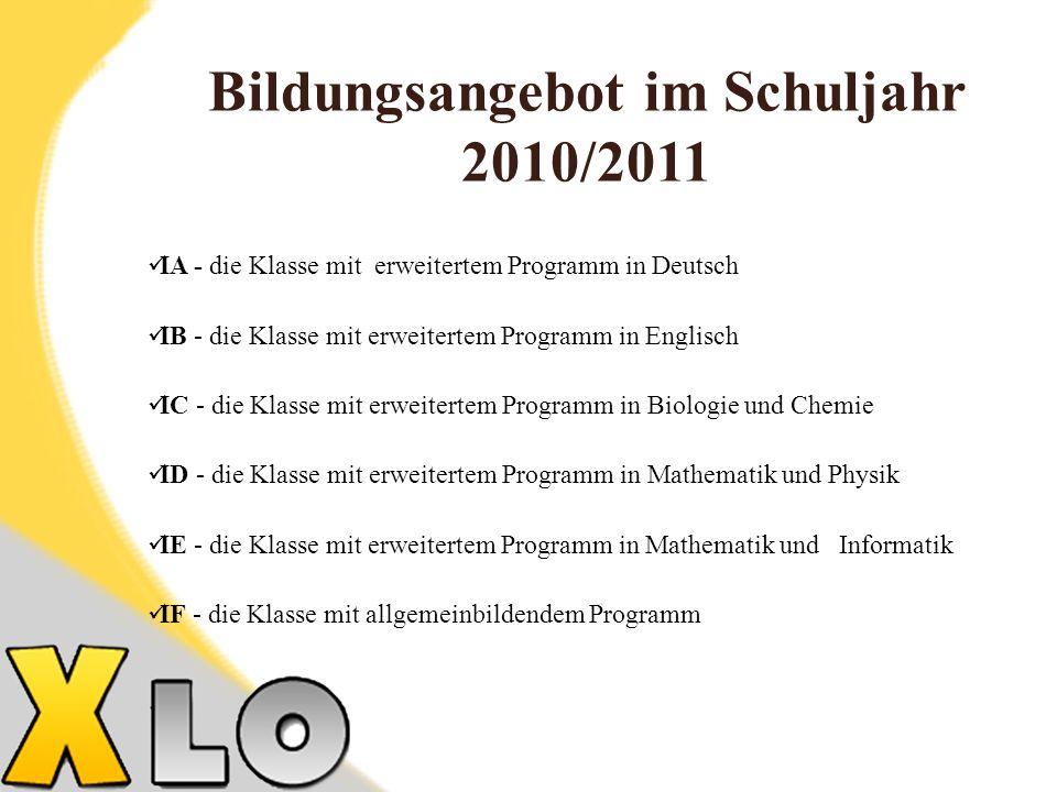 Bildungsangebot im Schuljahr 2010/2011
