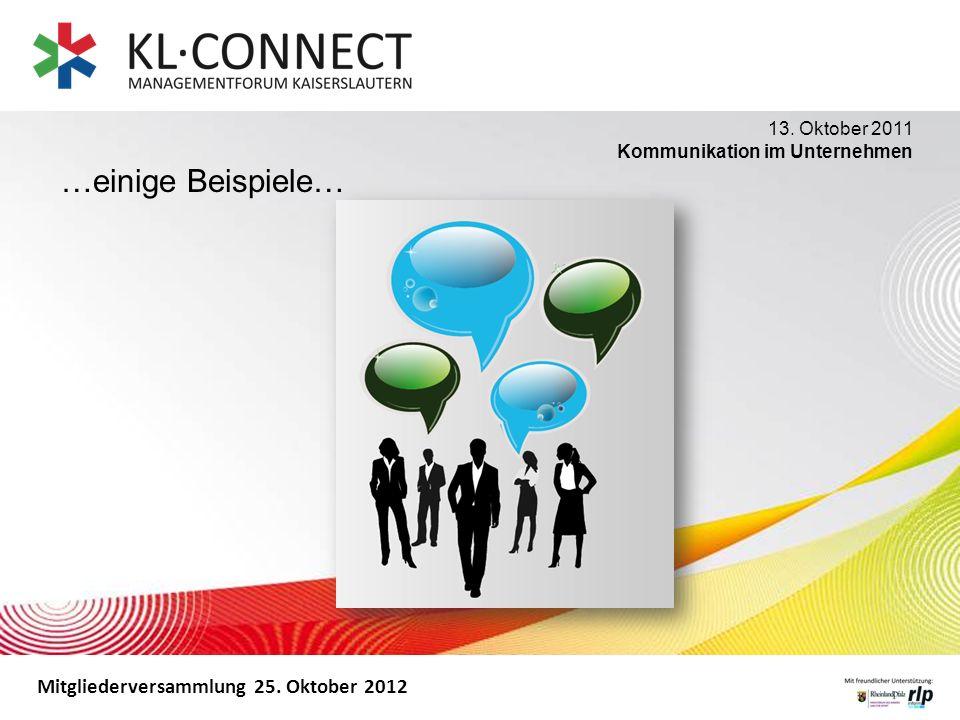 …einige Beispiele… 13. Oktober 2011 Kommunikation im Unternehmen
