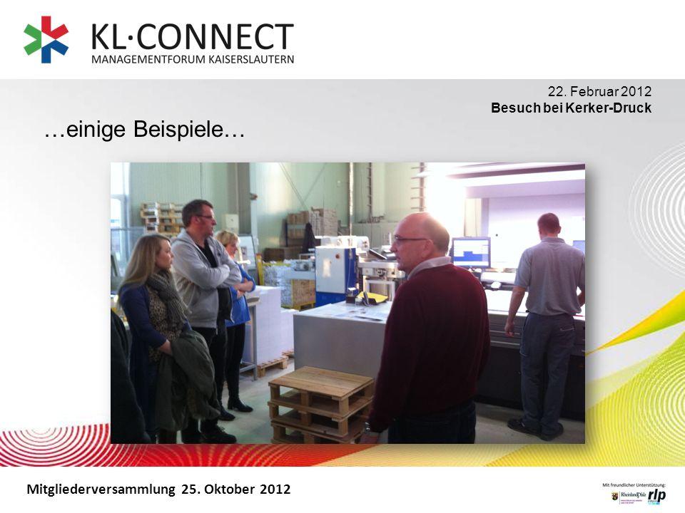 …einige Beispiele… 22. Februar 2012 Besuch bei Kerker-Druck