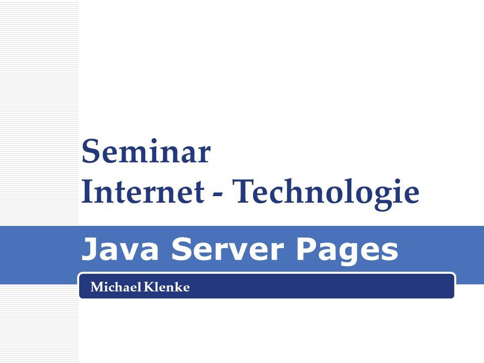 Seminar Internet - Technologie