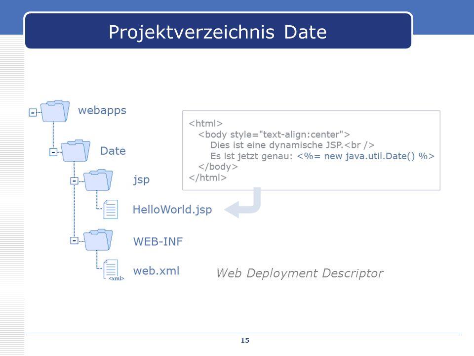 Projektverzeichnis Date