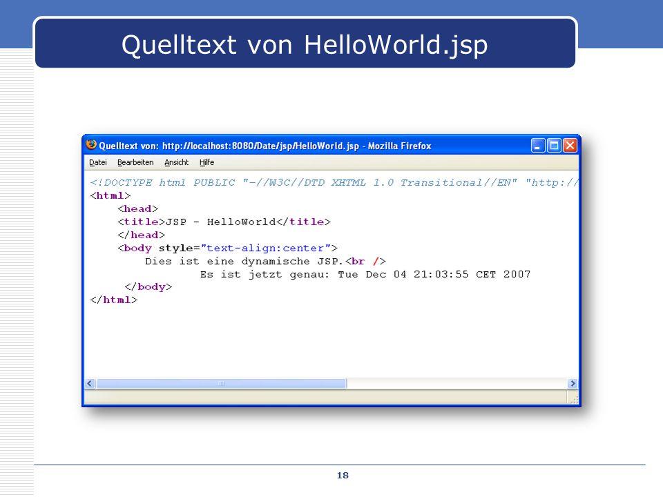 Quelltext von HelloWorld.jsp