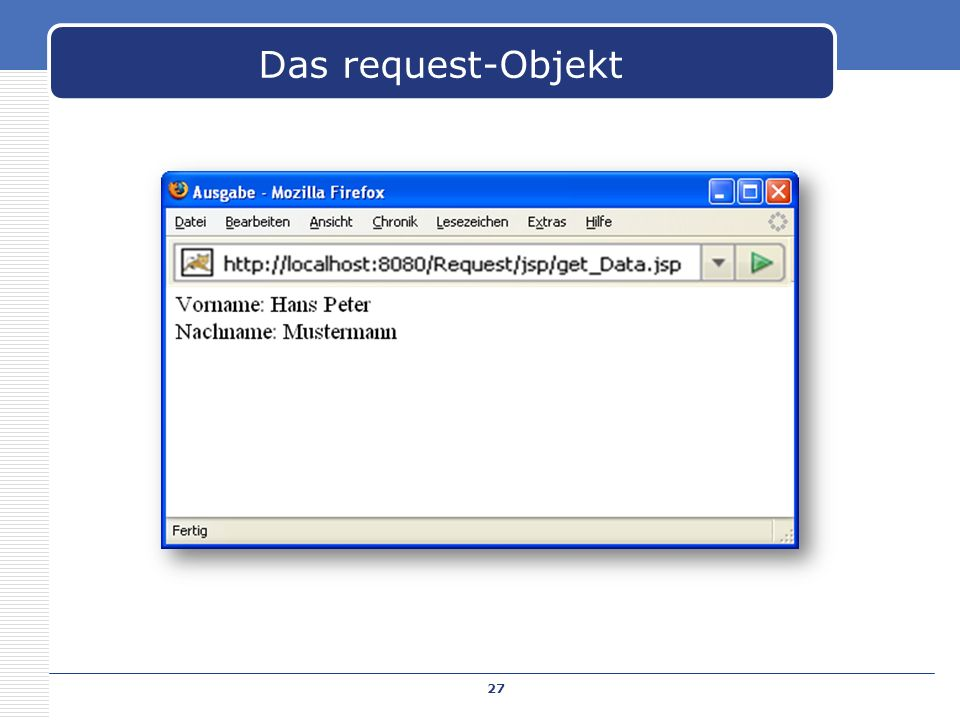 Das request-Objekt