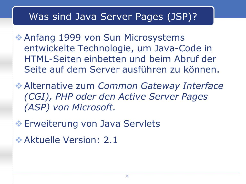 Was sind Java Server Pages (JSP)