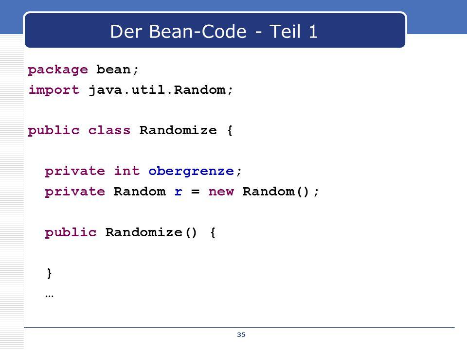Der Bean-Code - Teil 1