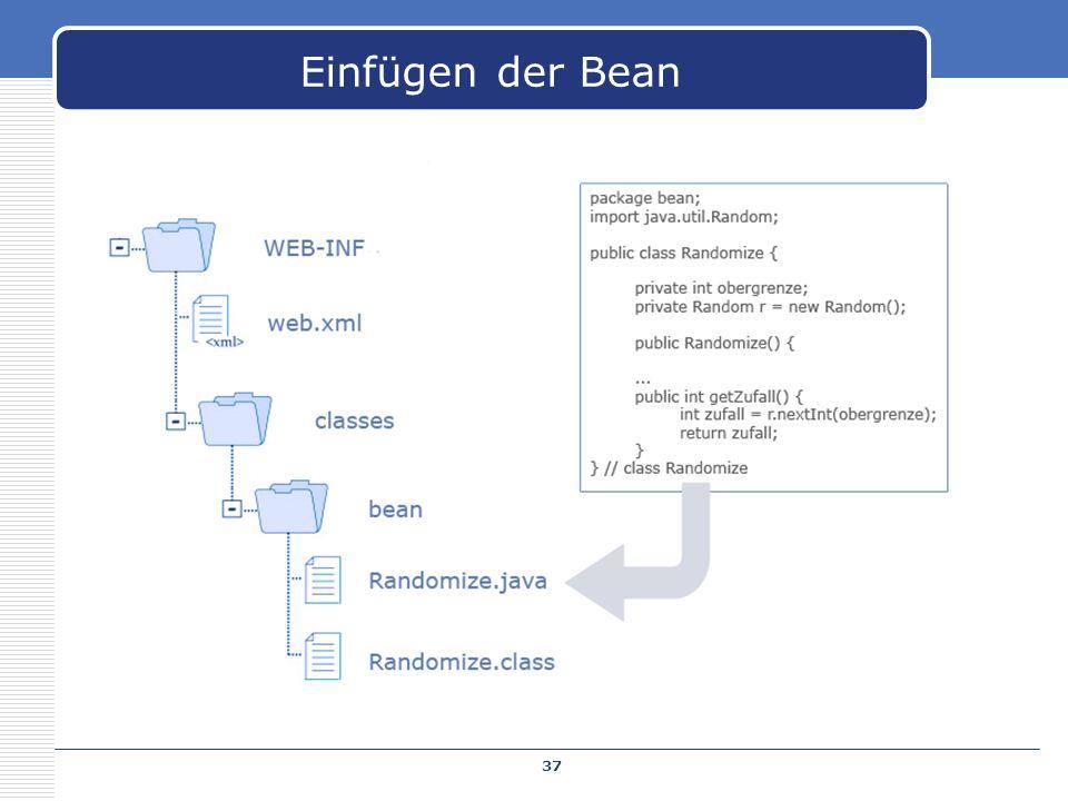 Einfügen der Bean