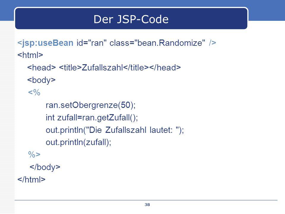 Der JSP-Code