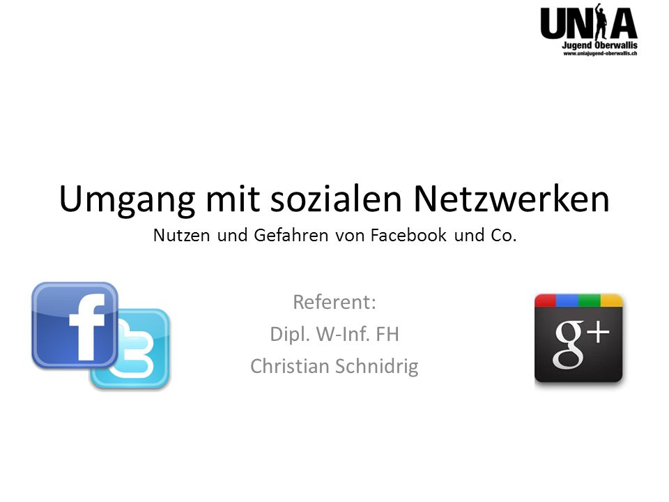 Referent: Dipl. W-Inf. FH Christian Schnidrig
