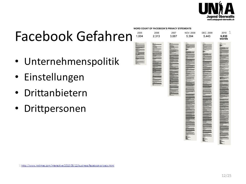 Facebook Gefahren Unternehmenspolitik Einstellungen Drittanbietern