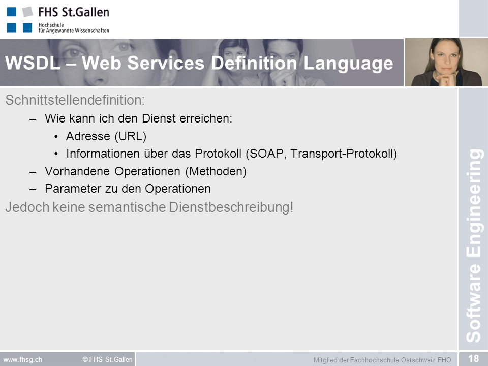 WSDL – Web Services Definition Language