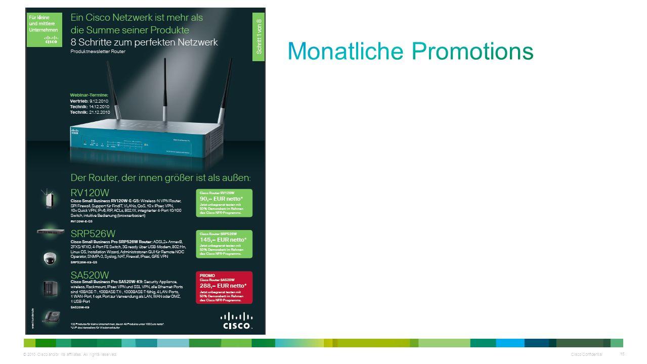 Monatliche Promotions