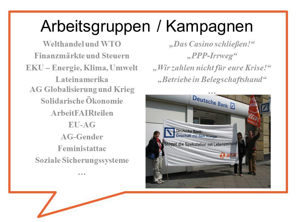 Arbeitsgruppen / Kampagnen