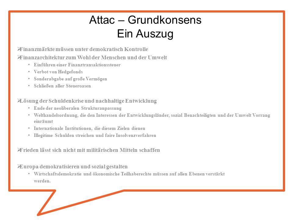 Attac – Grundkonsens Ein Auszug