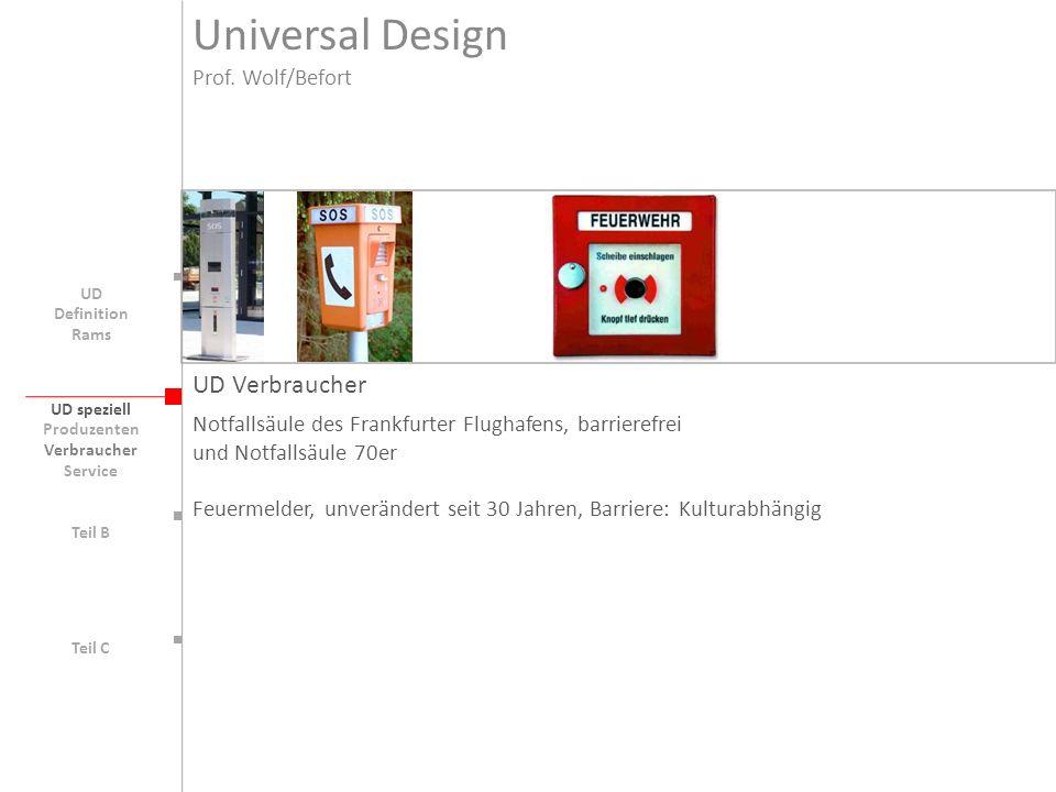 Universal Design UD Verbraucher Prof. Wolf/Befort