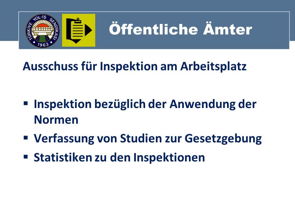 Öffentliche Ämter Ausschuss für Inspektion am Arbeitsplatz