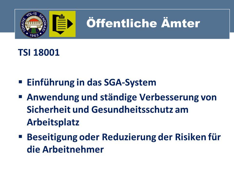 Öffentliche Ämter TSI 18001 Einführung in das SGA-System