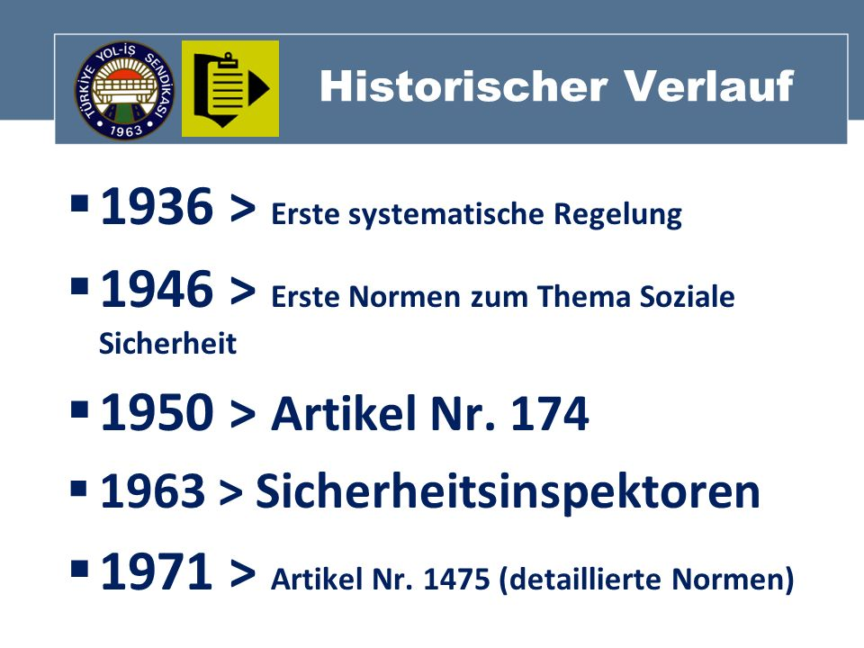 1936 > Erste systematische Regelung