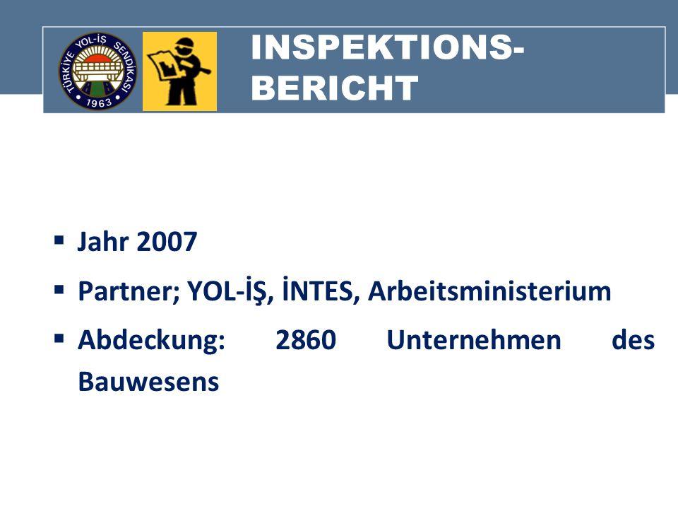 INSPEKTIONS-BERICHT Jahr 2007