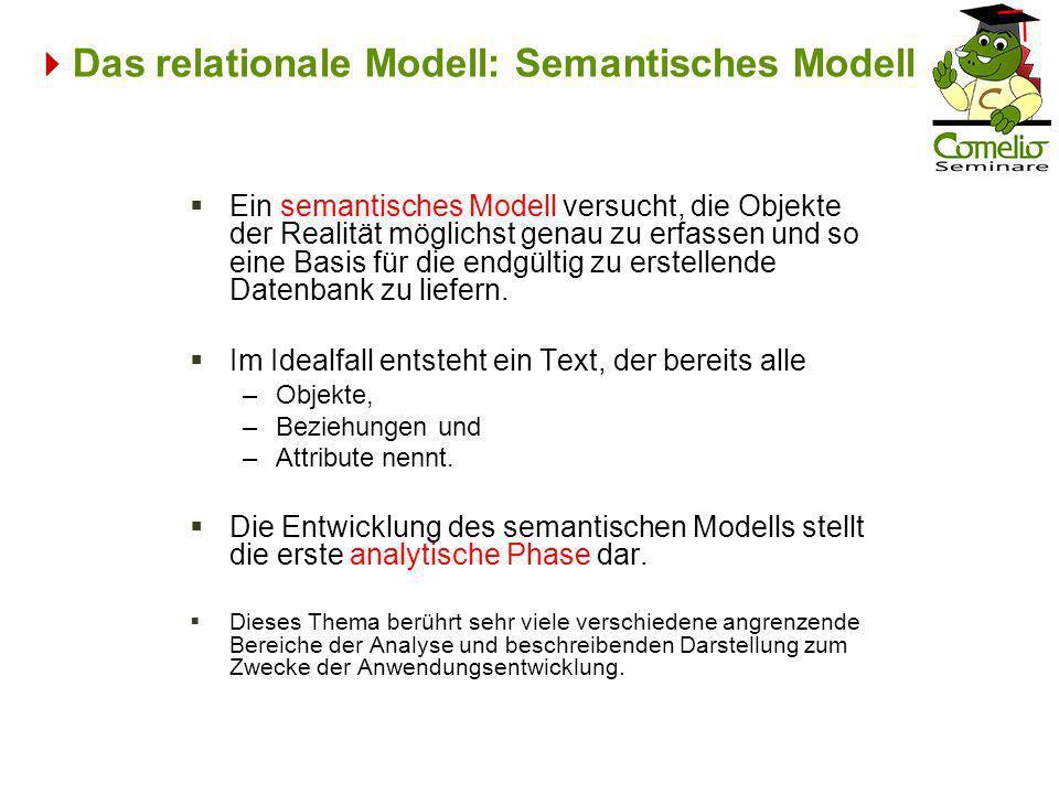 Das relationale Modell: Semantisches Modell