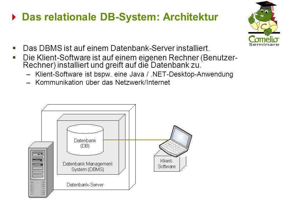  Das relationale DB-System: Architektur