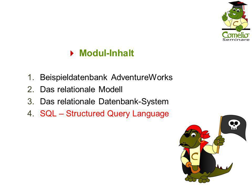  Modul-Inhalt Beispieldatenbank AdventureWorks Das relationale Modell