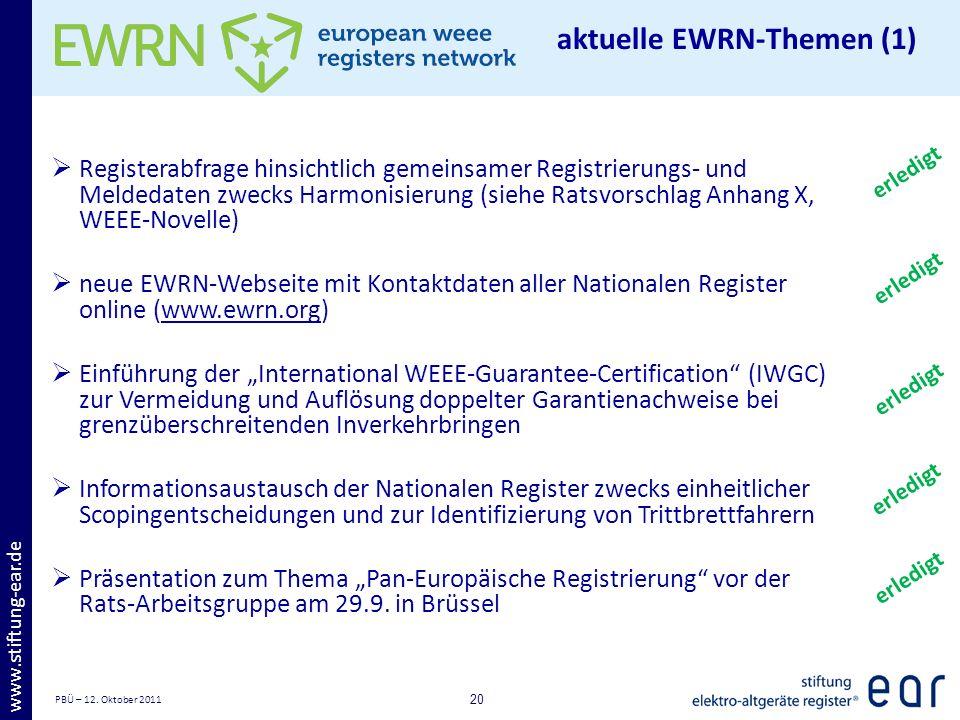aktuelle EWRN-Themen (1)