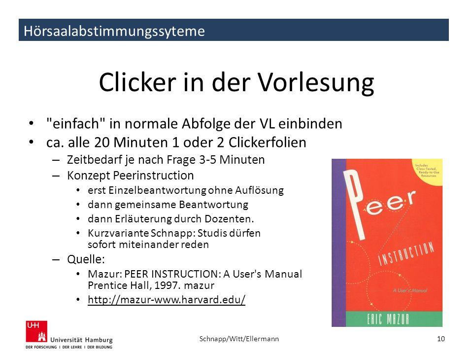 Clicker in der Vorlesung