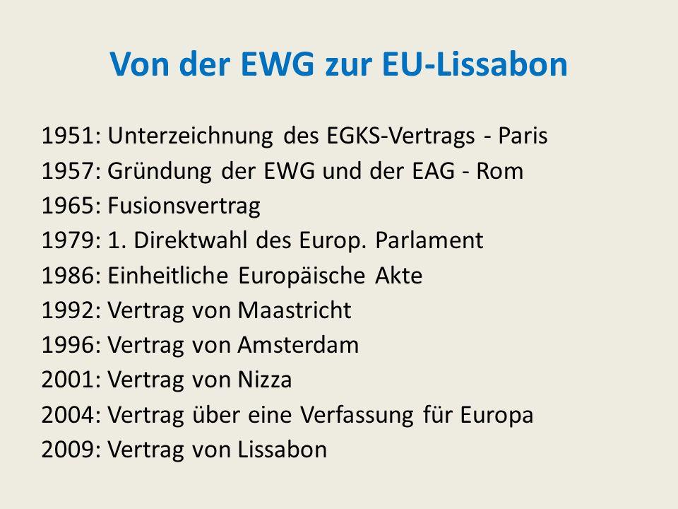 Von der EWG zur EU-Lissabon