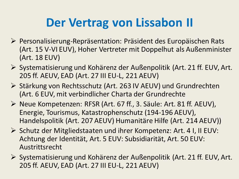 Der Vertrag von Lissabon II