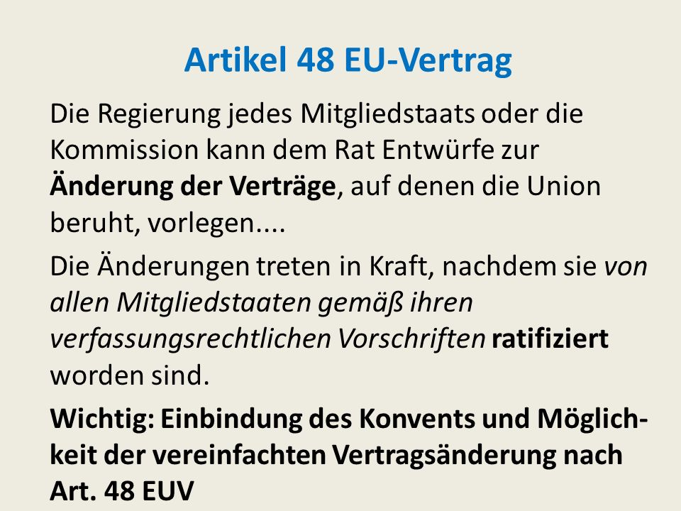 Artikel 48 EU-Vertrag