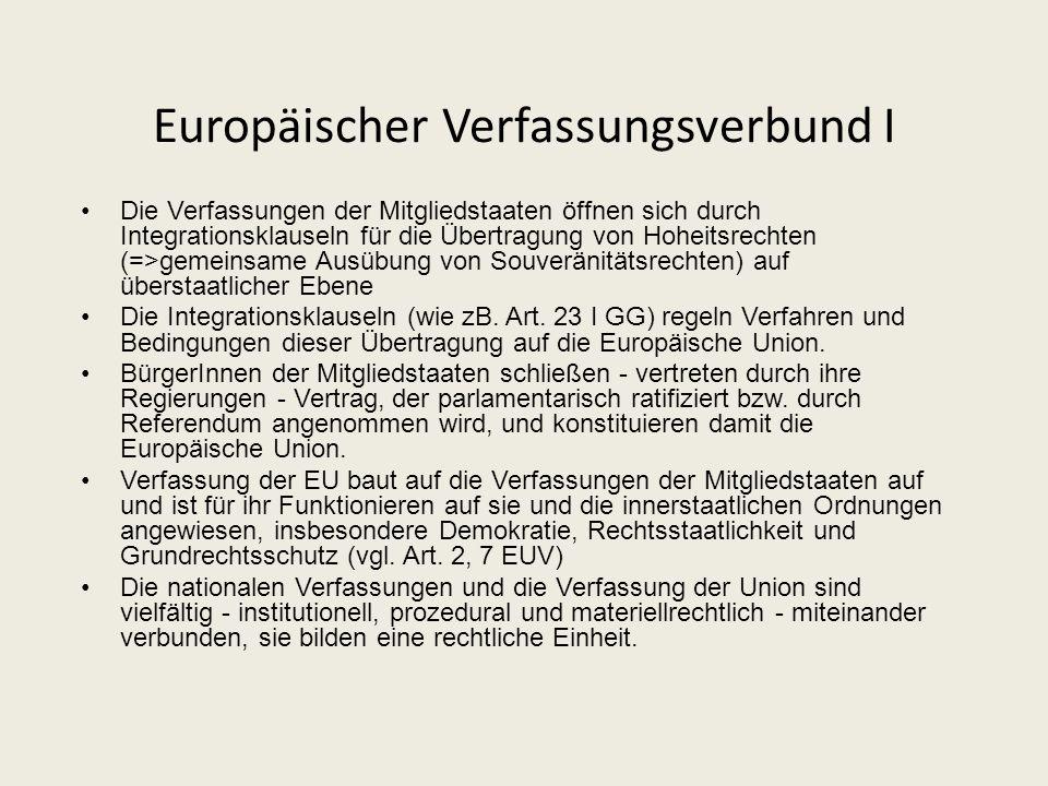Europäischer Verfassungsverbund I