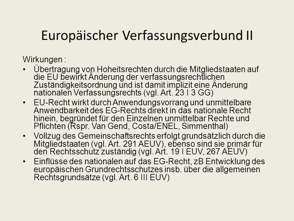 Europäischer Verfassungsverbund II
