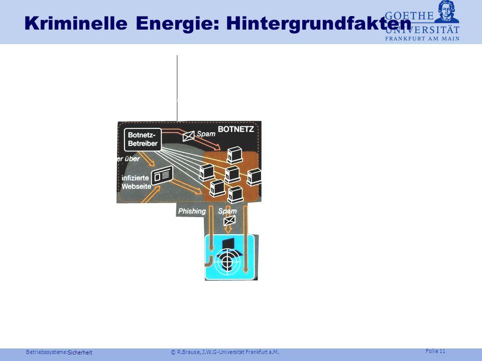 Kriminelle Energie: Hintergrundfakten