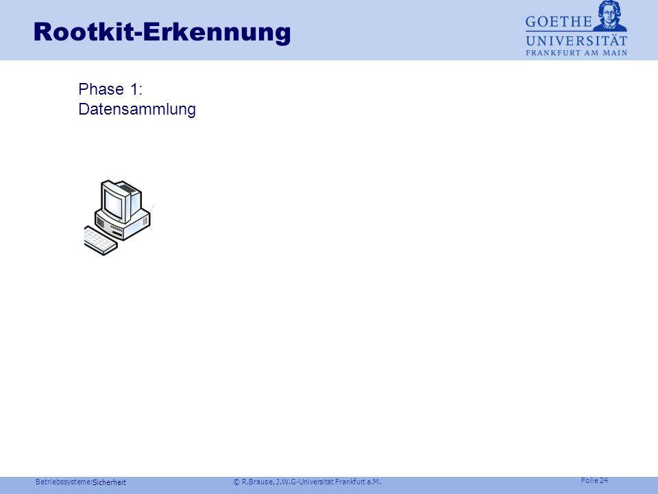 Rootkit-Erkennung Phase 1: Datensammlung Phase 2: Vergleich Sicherheit