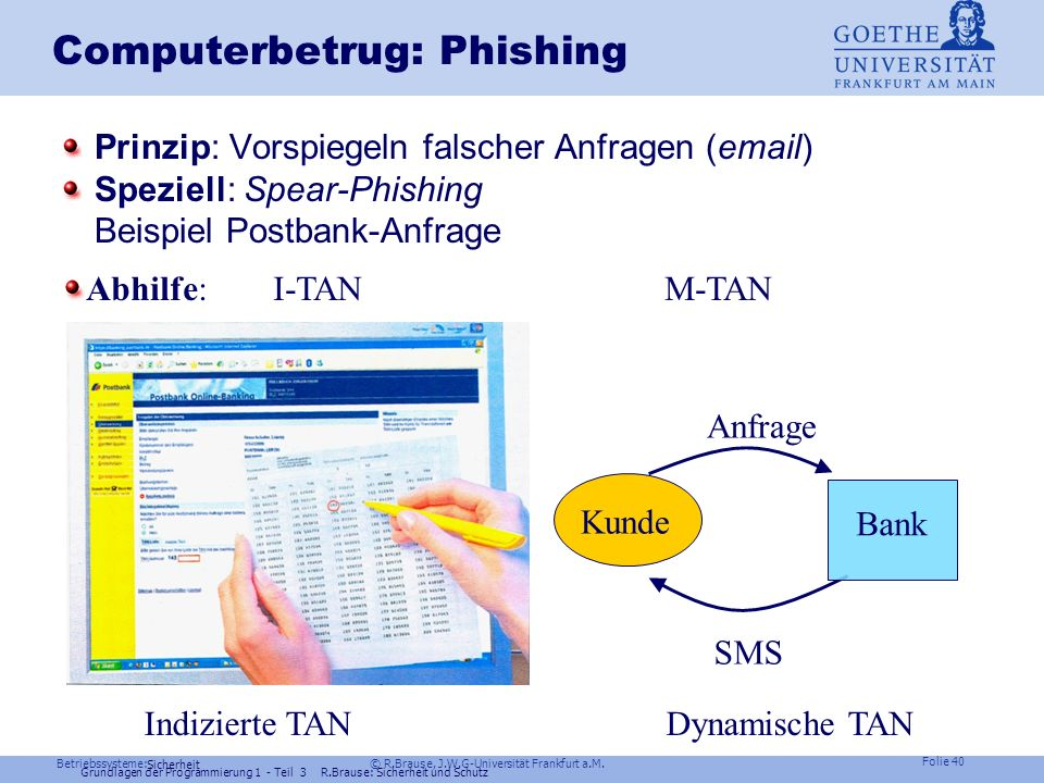 Computerbetrug: Phishing