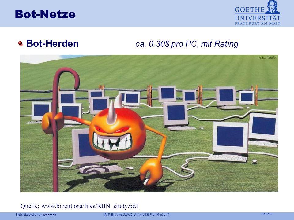 Bot-Netze Bot-Herden ca. 0.30$ pro PC, mit Rating