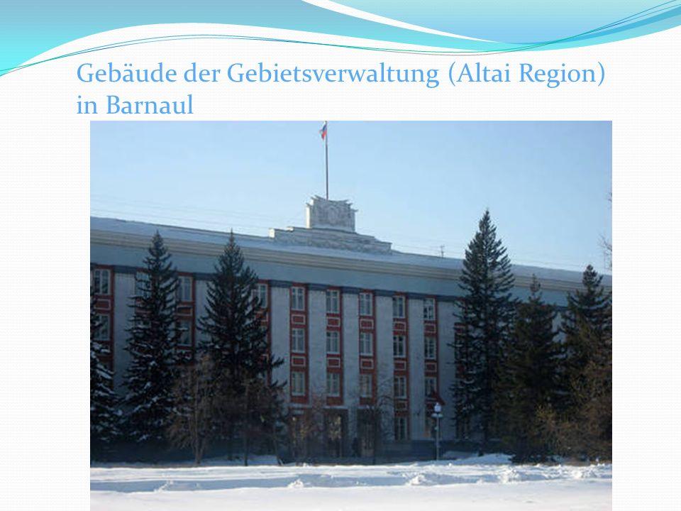 Gebäude der Gebietsverwaltung (Altai Region) in Barnaul