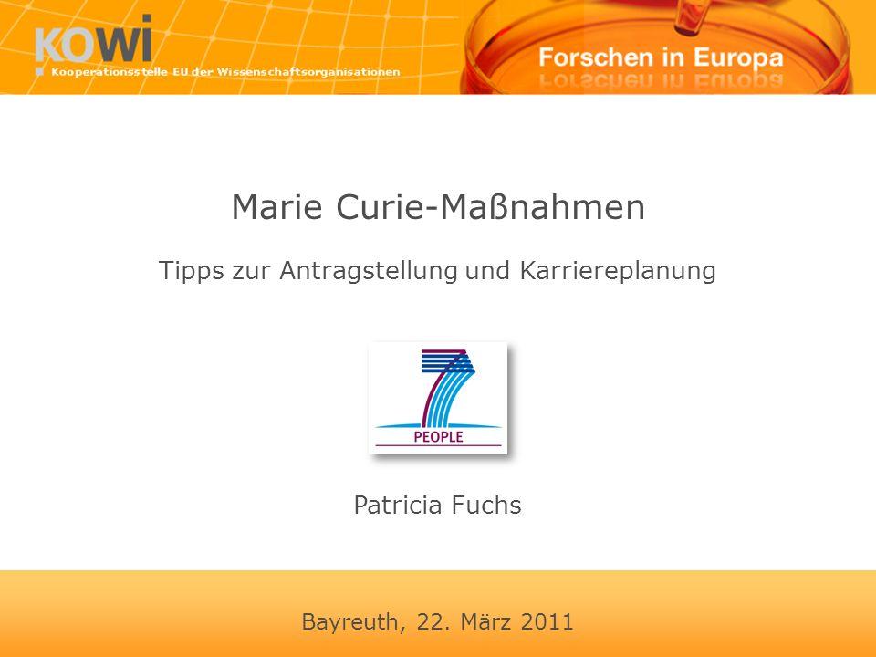 Marie Curie-Maßnahmen Tipps zur Antragstellung und Karriereplanung