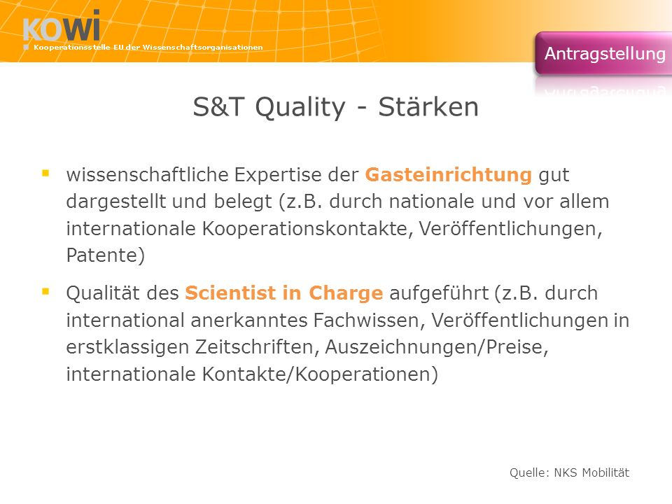 S&T Quality - Stärken