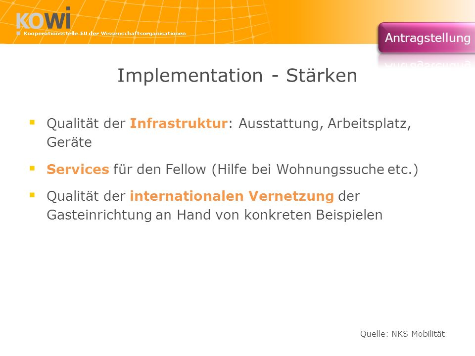 Implementation - Stärken