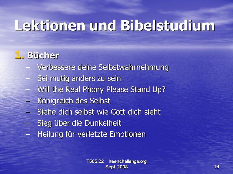 Lektionen und Bibelstudium