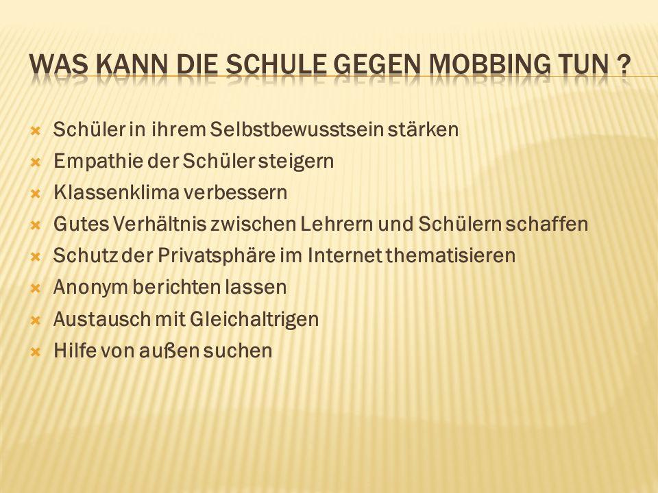 Was kann die Schule gegen Mobbing tun