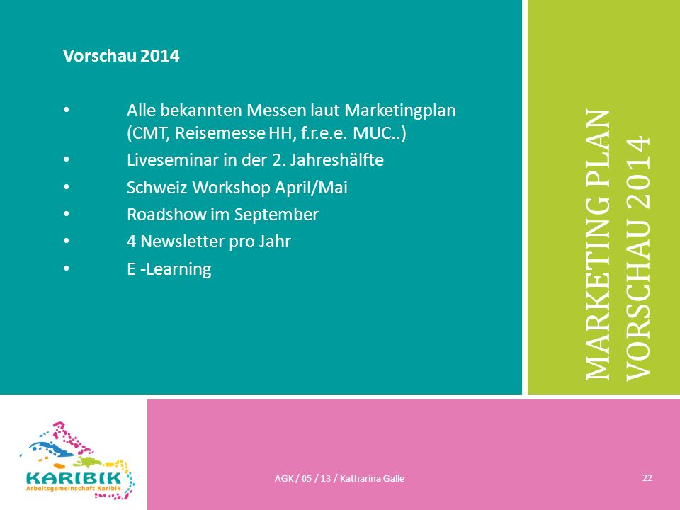 MARKETING PLAN Vorschau 2014