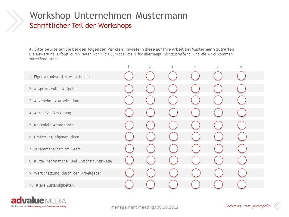 Workshop Unternehmen Mustermann