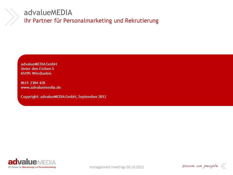 advalueMEDIA Ihr Partner für Personalmarketing und Rekrutierung